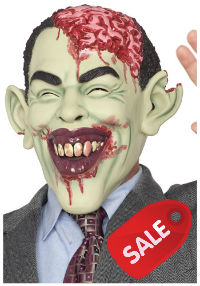 Brain Damaged Obama Zombie Mask