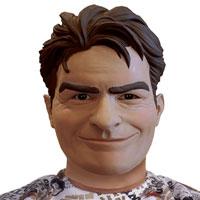 Deluxe Charlie Sheen Halloween Mask