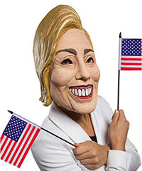 Hillary Clinton Halloween Mask