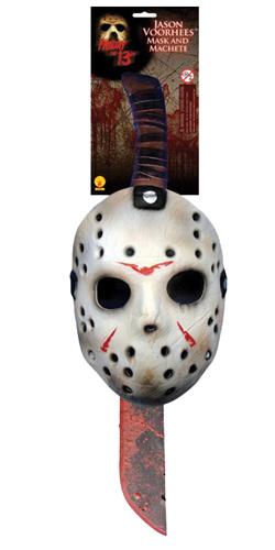 Friday 13Th Jason Machete Mask Set