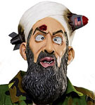 Missile head Osama Bin Laden Halloween Mask