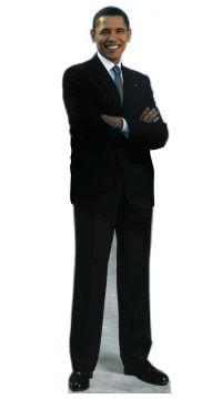 President Barack Obama Cardboard Standup