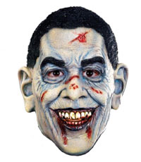Pale Barack Obama Zombie Halloween Mask